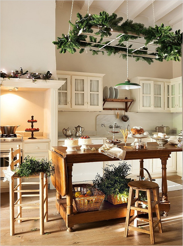 42 Awesome Kitchen Christmas Decorating Ideas 24 New Christmas Decorating Ideas Home Bunch Interior Design Ideas 8