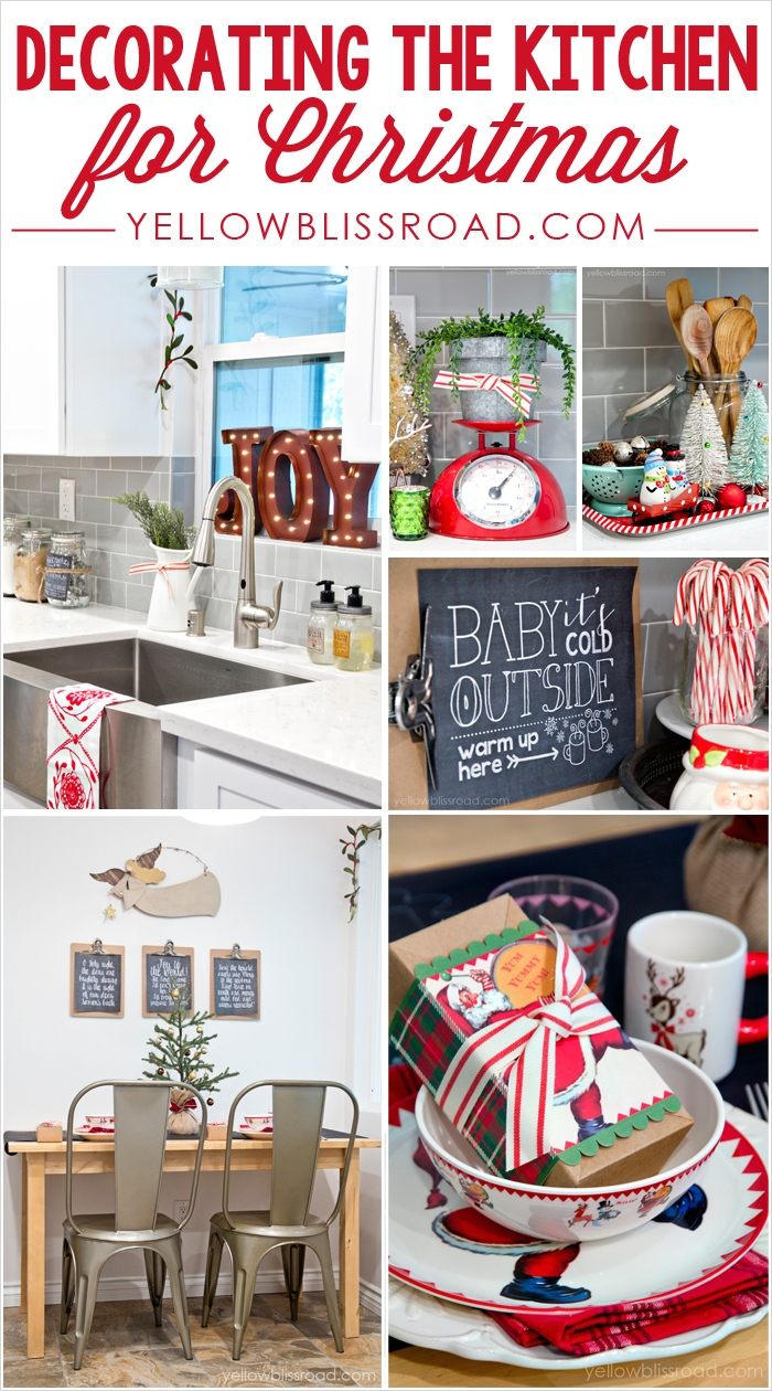 42 Awesome Kitchen Christmas Decorating Ideas 86 Christmas Decorating In the Kitchen Yellow Bliss Road 4