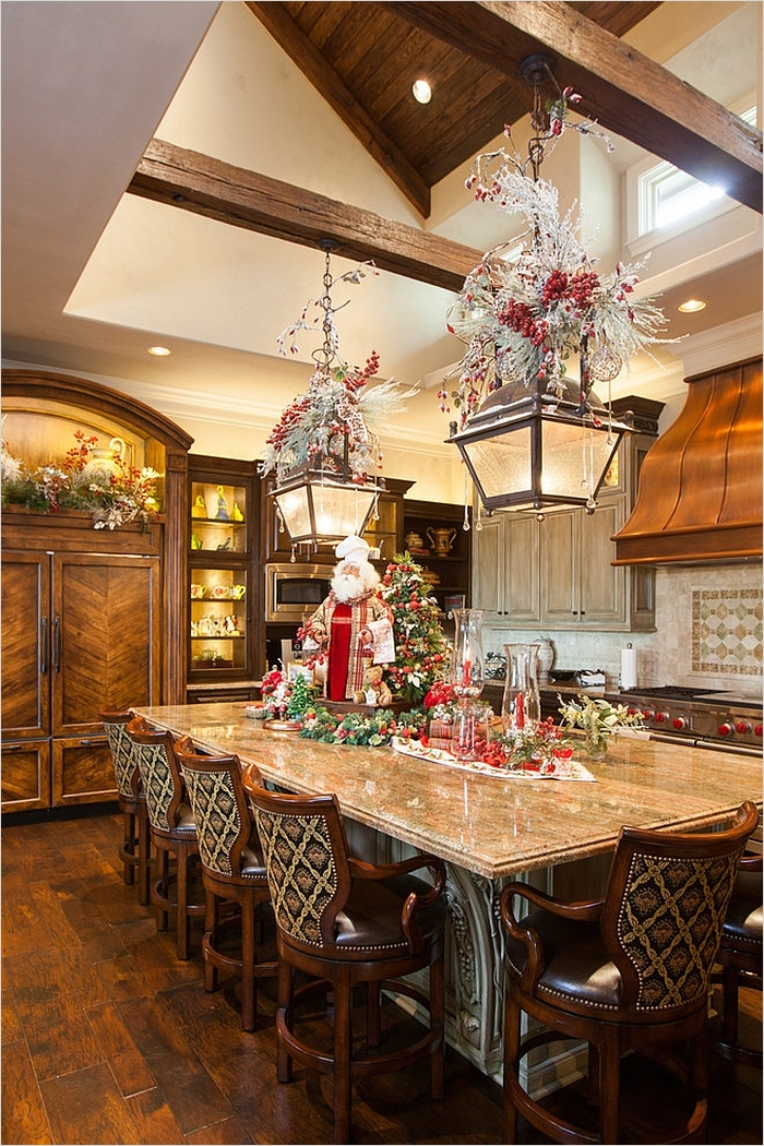 42 Awesome Kitchen Christmas Decorating Ideas 58 Christmas Decorating Ideas that Add Festive Charm to Your Kitchen 9