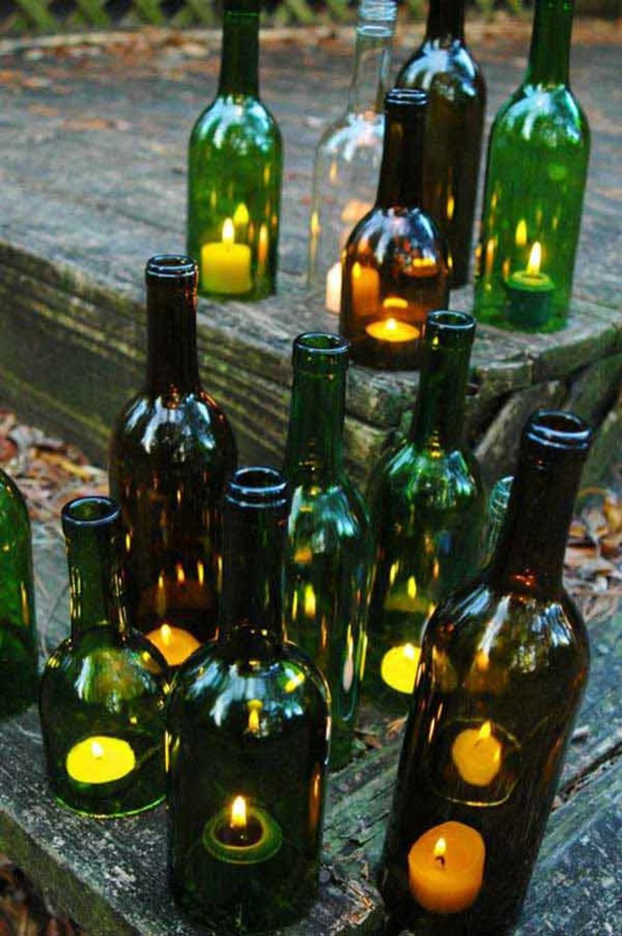 46 DIY Simple but Beautiful Wine Bottle Decor Ideas 42