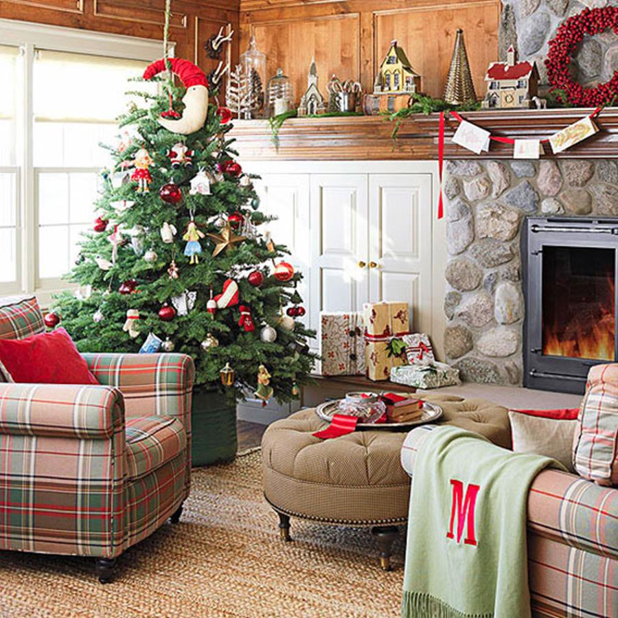 50 Stunning Living Room Christmas Decorating Ideas 13