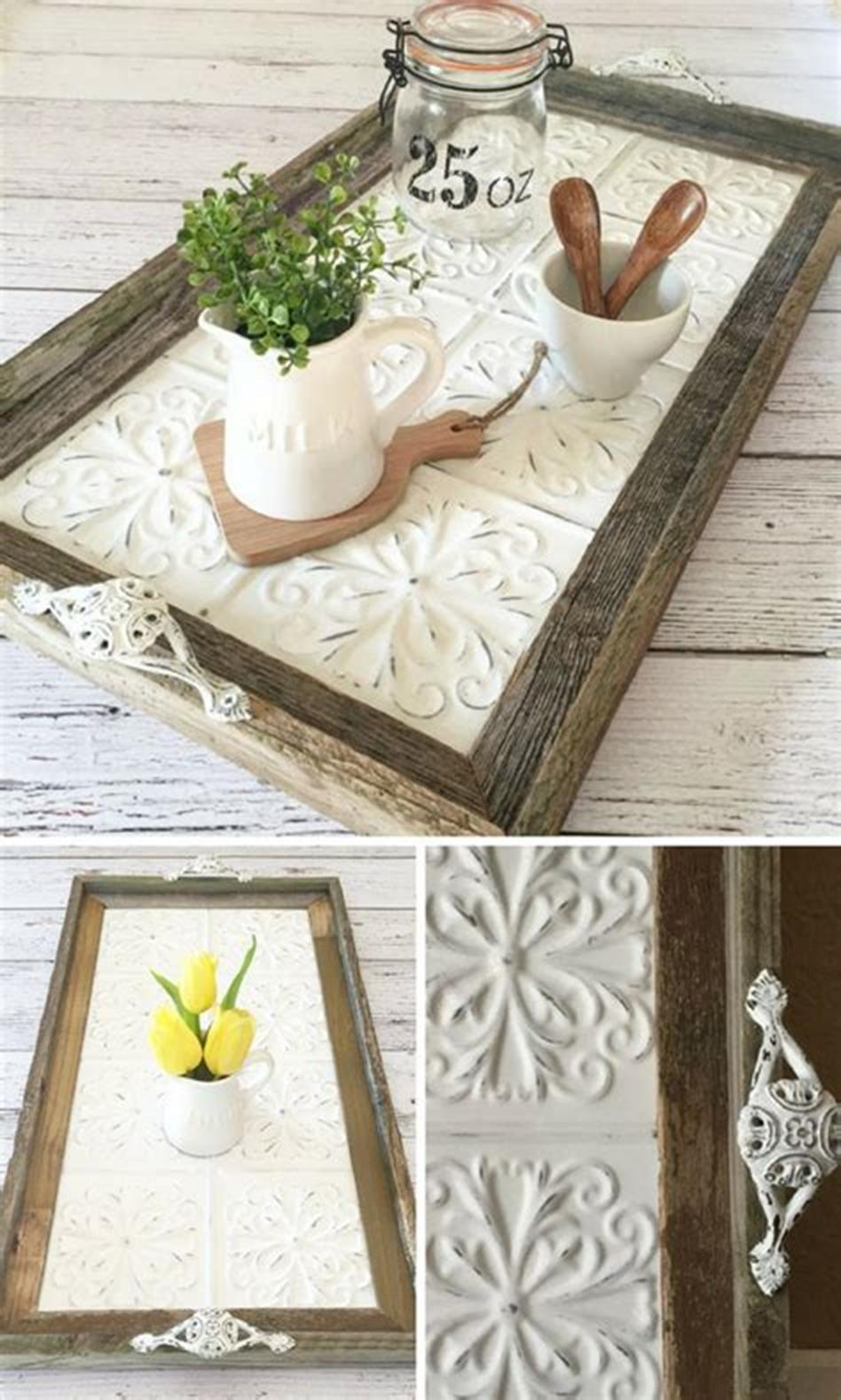 40 Beautiful Farmhouse Style Tray Decor Ideas 23