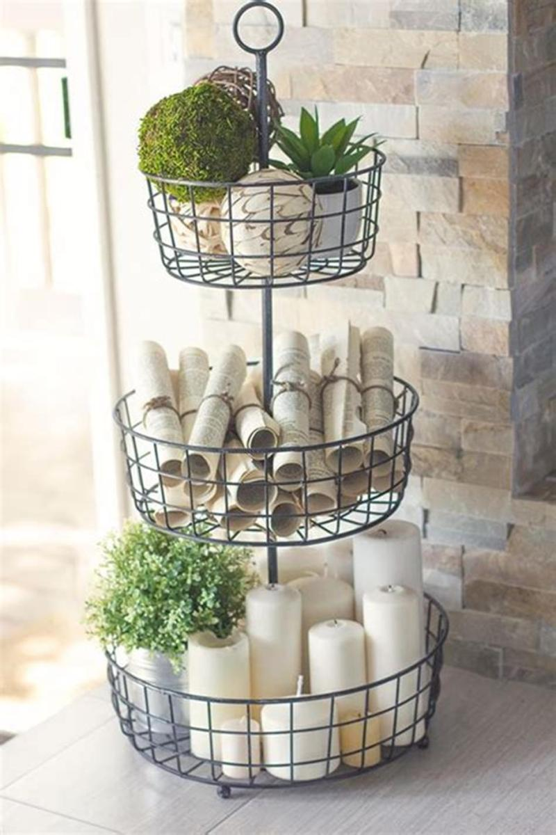 40 Beautiful Farmhouse Style Tray Decor Ideas 25