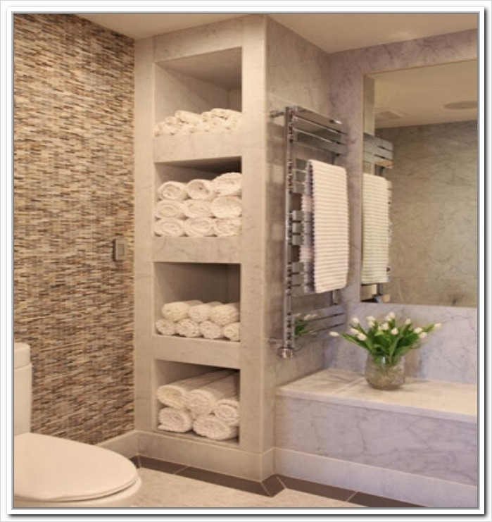 36 Awesome Bathroom Rowel Storage Ideas 12