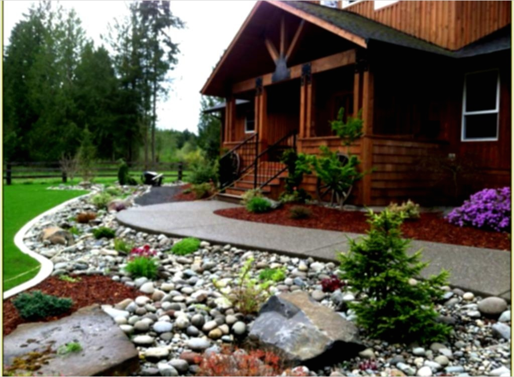 35 Perfect Front Yard Landscaping Ideas with Rocks 66