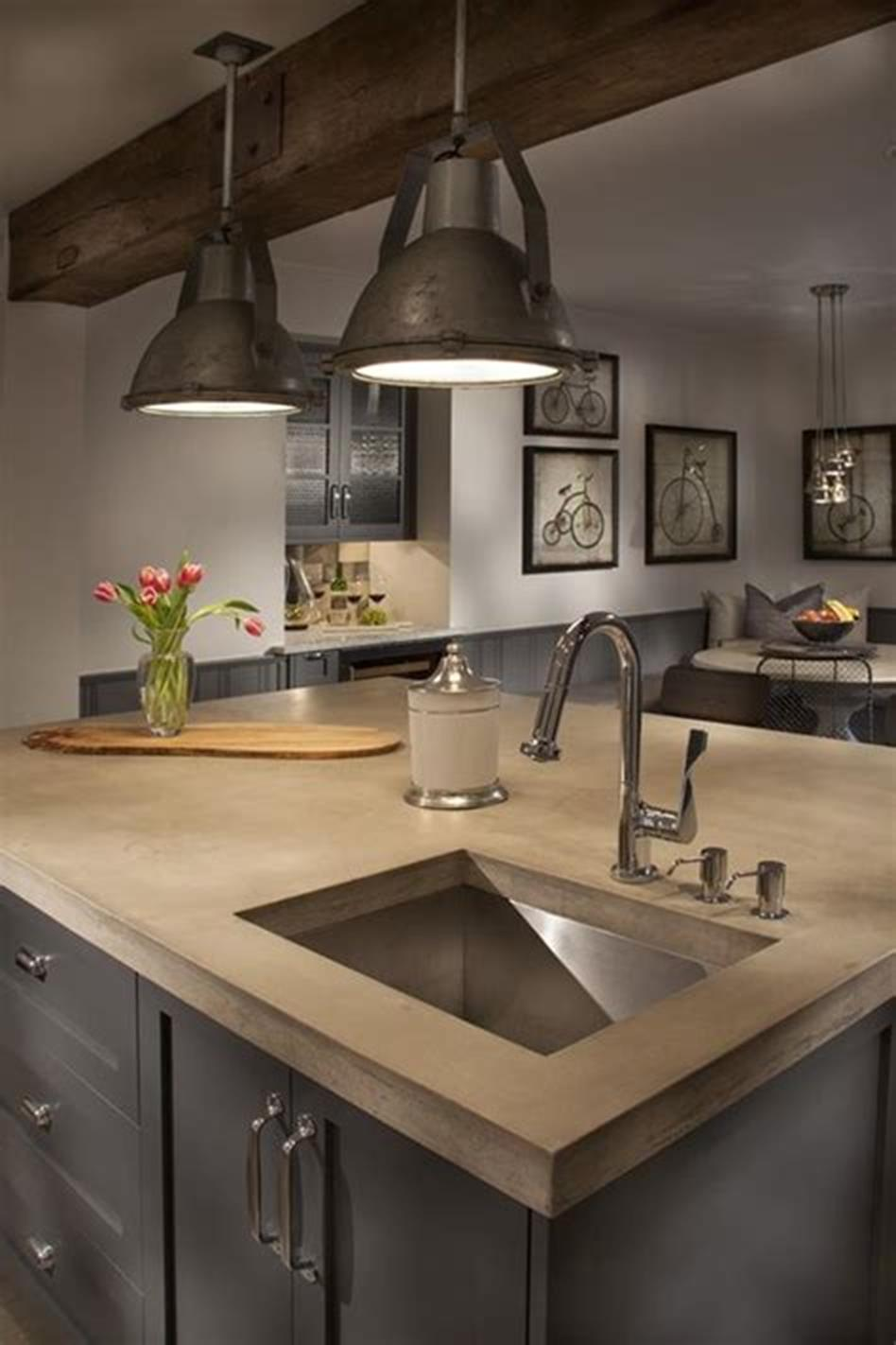 50 Inspiring Farmhouse Style Kitchen Lighting Fixtures Ideas 33