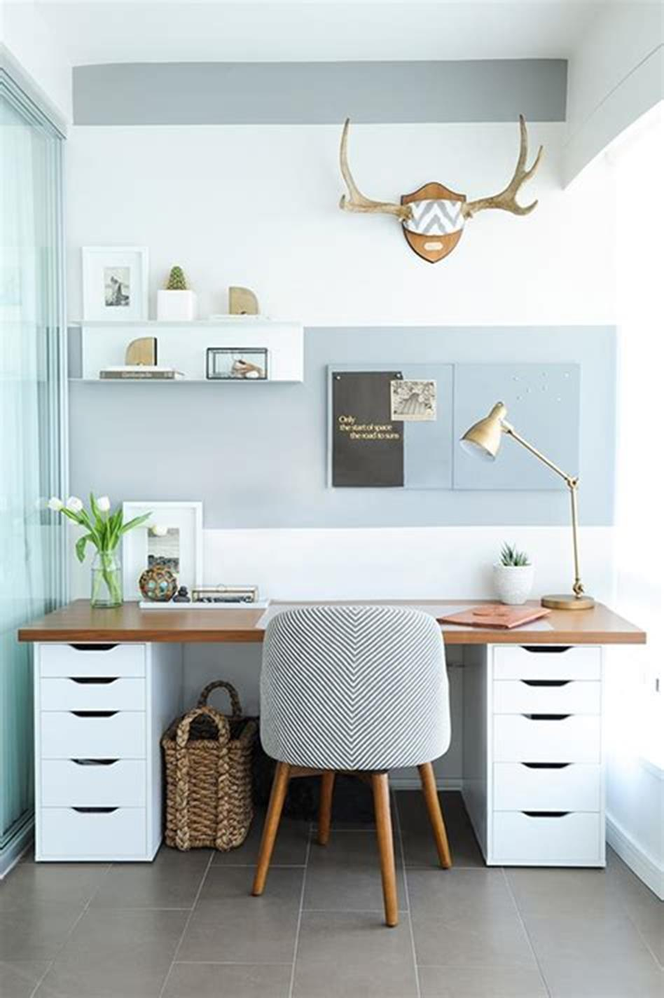 50 Best Small Space Office Decorating Ideas On a Budget 2019 28