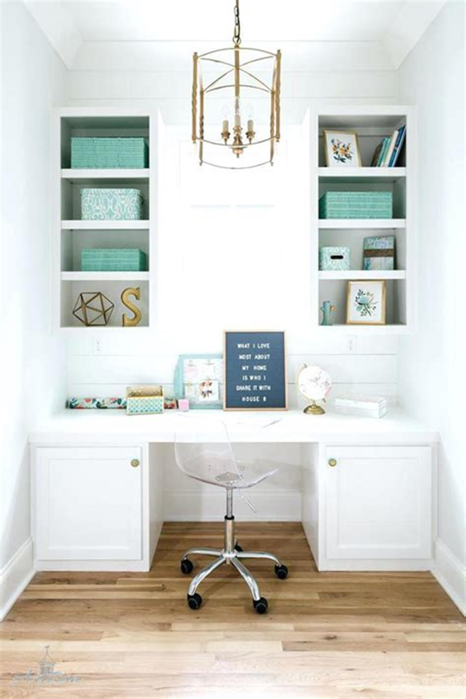 50 Best Small Space Office Decorating Ideas On a Budget 2019 34