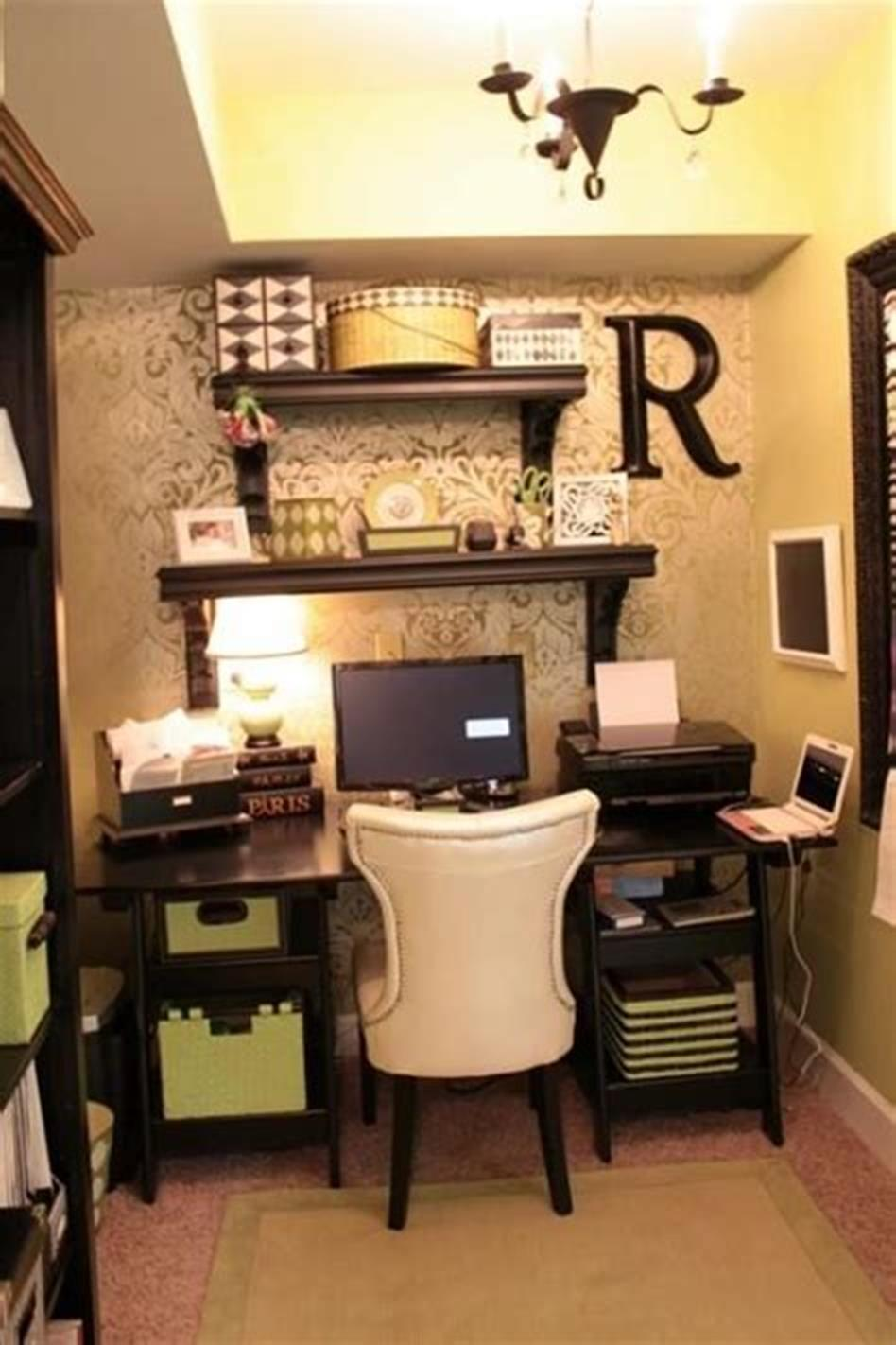 50 Best Small Space Office Decorating Ideas On a Budget 2019 44