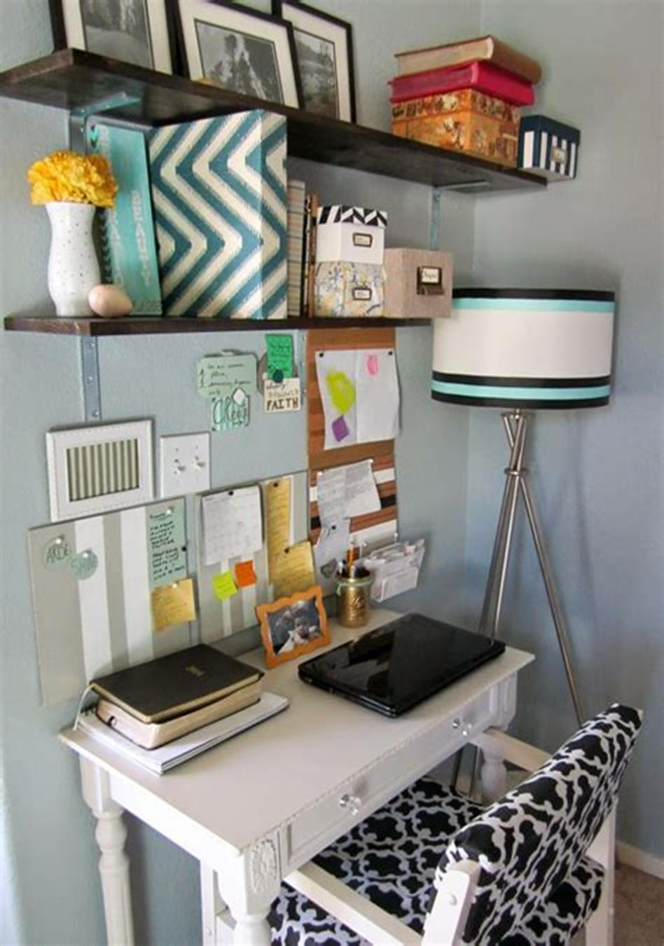 50 Best Small Space Office Decorating Ideas On a Budget 2019 59