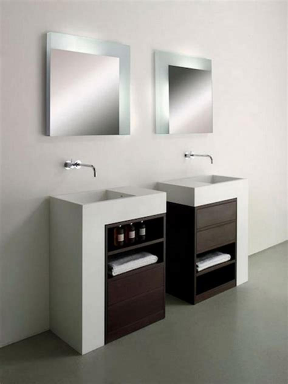 35 Best Wall Mounted Vanities For Small Bathrooms 2019 15