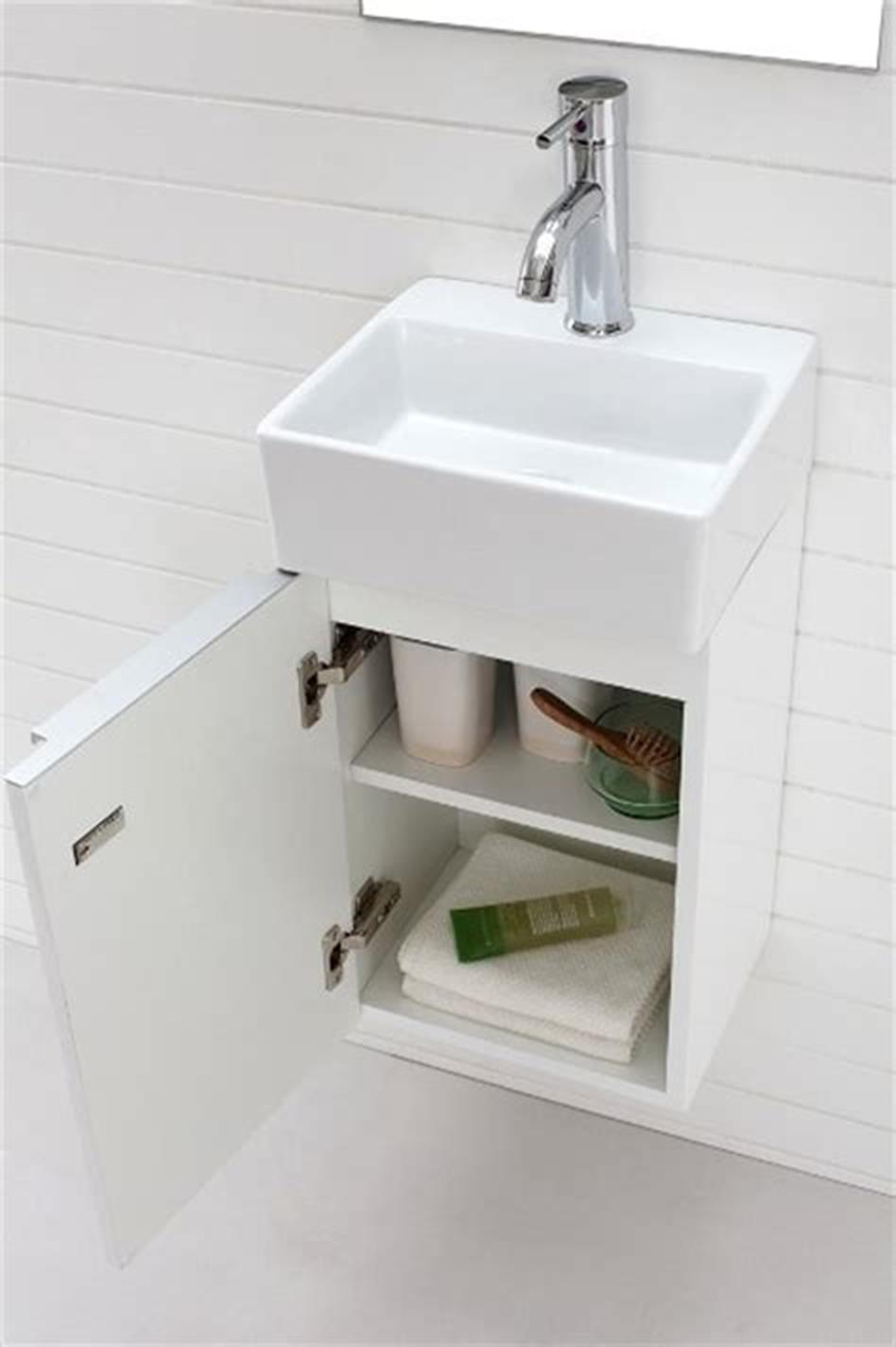 35 Best Wall Mounted Vanities For Small Bathrooms 2019 6