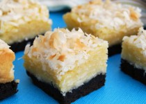 Black-Bottom Coconut Bars