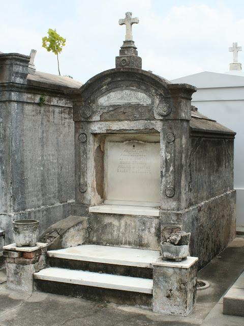 Bellocq's grave in St. Louis Cemetery No. 3. Image courtesy thecarpetbagger.org