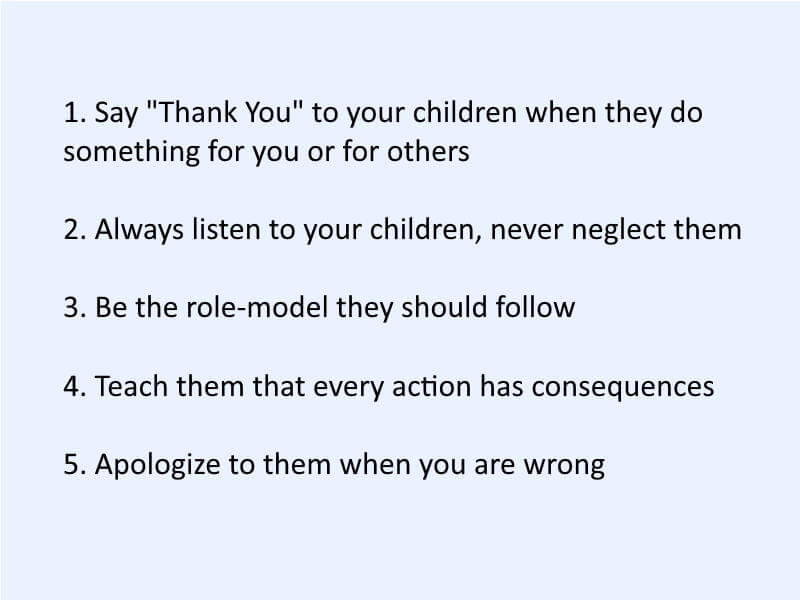 How To Behave Towards Children