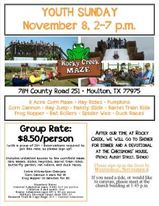 Rocky Creek Youth Sunday