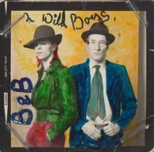 David Bowie en William Burroughs, 1974 - Foto: Terry O'Neill