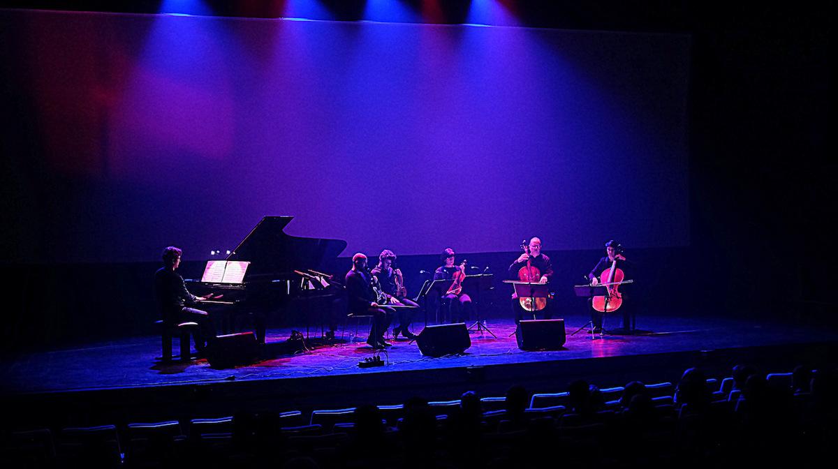 Noah Vanden Abeele tijdens het Night Air Festival op 7 maart 2020 in Kortrijk