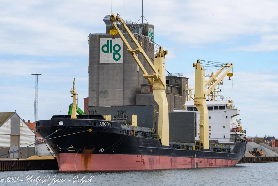 ARGO - IMO 9421128 laster korn i Korsør d. 23. april 2021
