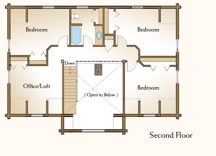 2 bedroom log home floor plans for 2 bedroom log home plans