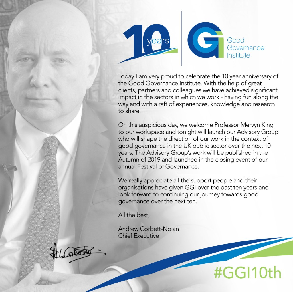 GGI10th - 10 years of the Good Governance Institute