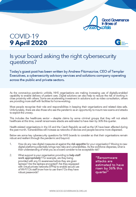 Is your board asking the right cybersecurity questions?