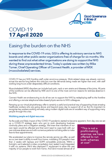Easing the burden on the NHS