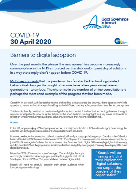 Barriers to digital adoption