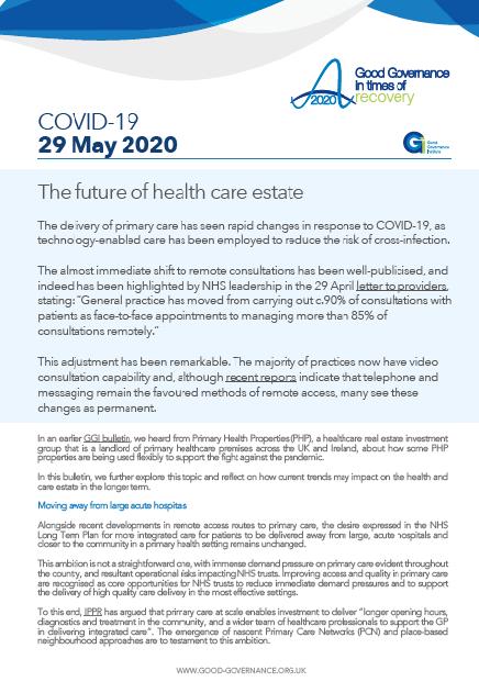 The future of health care estate