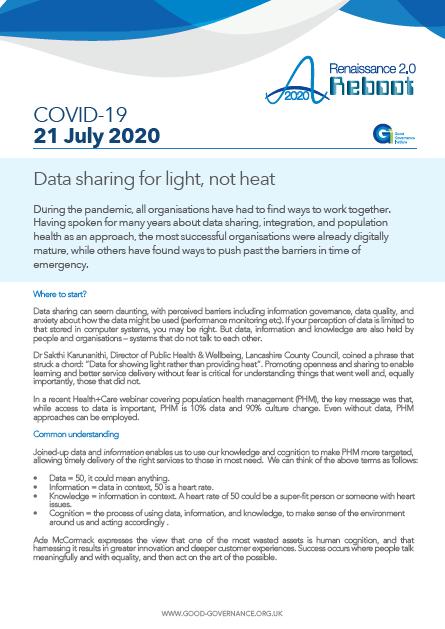 Data sharing for light, not heat