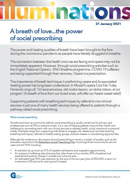 A breath of love…the power of social prescribing