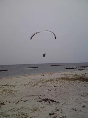 I jumped out with a motor paraglider