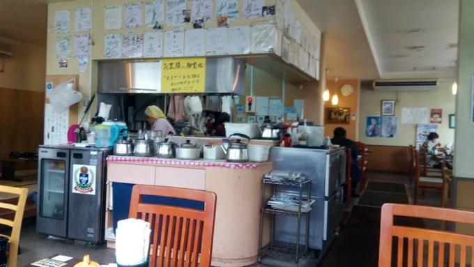 Inside shop of snack restaurant Ruby