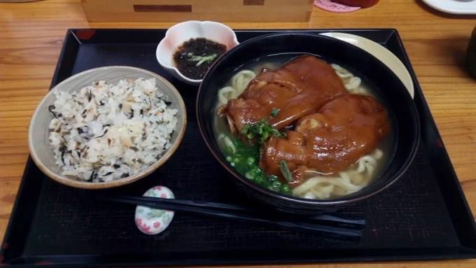 Tebichi soba (large size) juicy set of Nanbu soba
