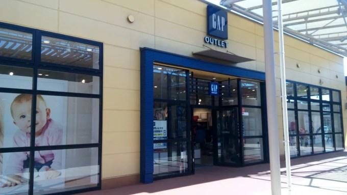 GAP shop in Okinawa outlet mall ASHIBINAA