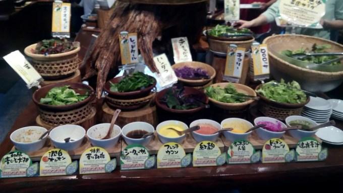 Karakara salad buffet