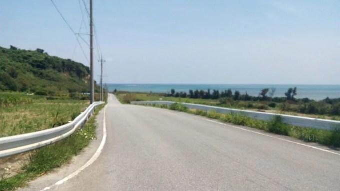 Driving scenery of Henza-jima Island 1
