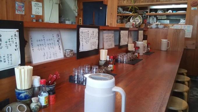 Inside shop of Mokuhai OKinawa soba Toraya 1