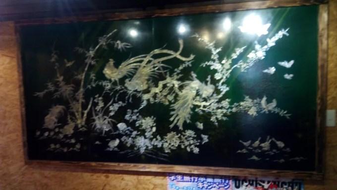 店内に飾られている絵画