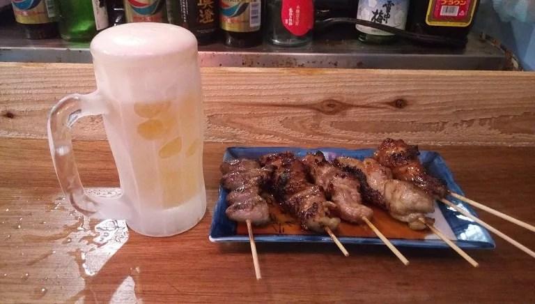 生ビールと焼鳥セット