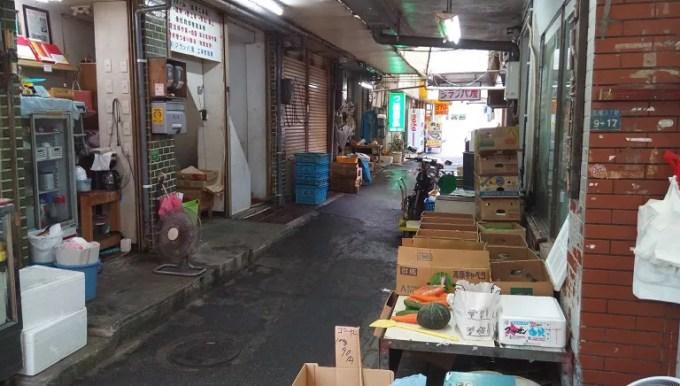 sideway of the Makishi public market