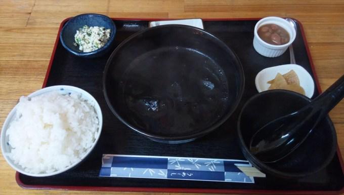 イカスミ汁定食