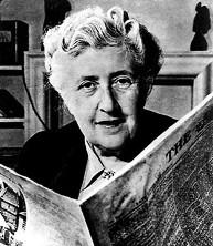 Agatha Christie Reading A Newspaper
