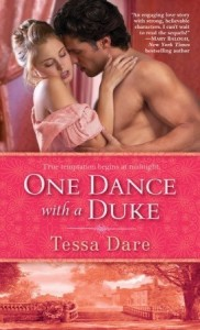 One Dance With A Duke, Tessa Dare, Book Cover, Pink, Romance