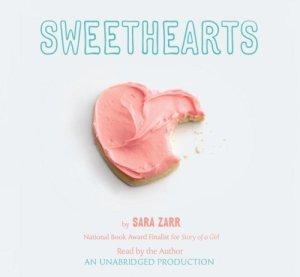 Sweethearts, Sara Zarr, Audiobook cover, cookie heart