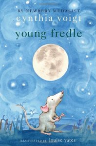 Young Fredle, Cynthia Voight, Book Cover, Mouse, Moon, blue background