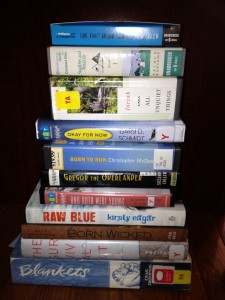 In My Mailbox, Pyramid of books