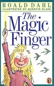 The Magic Finger Roald Dahl book cover