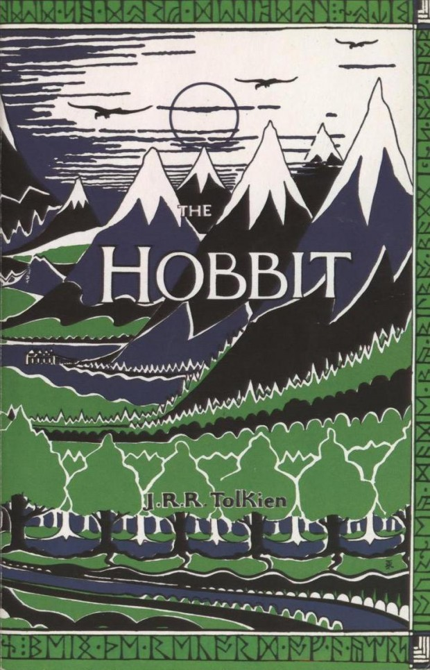 The Hobbit JRR Tolkien Book Cover Misty Mountains Version