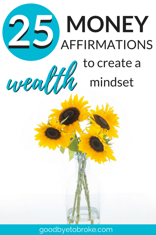 Money affirmations are a powerful tool. They can help you reframe your mindset to make more money, pay off #debt, and achieve your financial #goals. Here are 25 money affirmations to get you started! #makemoney #moneymindset